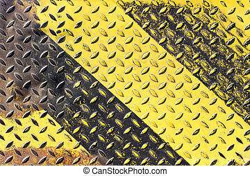 Grunge black and yellow iron surface background