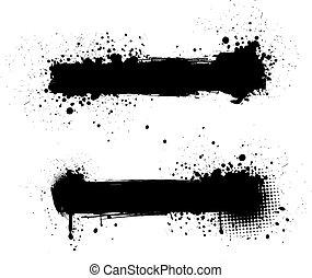 Grunge black banners