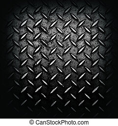 Grunge black diamond plated metal. great for backgrounds and...