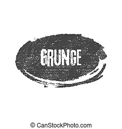 Grunge black ellipse brush shape vector illustration