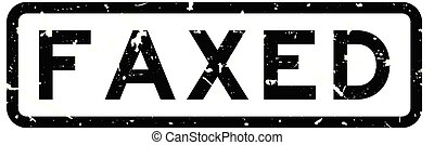 Grunge black faxed word square rubber seal stamp on white background