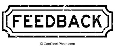 Grunge black feedback word rubber business seal stamp on white background