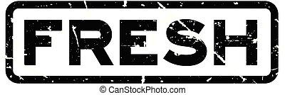 Grunge black  fresh word square rubber seal stamp on white background