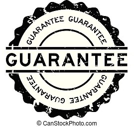Grunge black guarantee word round rubber seal stamp on white background