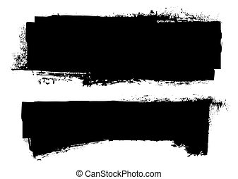 grunge black ink banner - black grunge ink banner with paint...