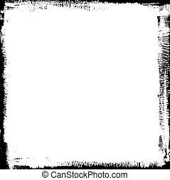 grunge black ink border background