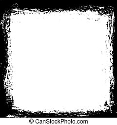 grunge black ink border frame