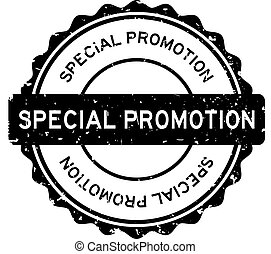 Grunge black special promotion word round rubber seal stamp on white background