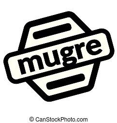 grunge black stamp