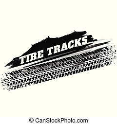 grunge black tire track print marks background