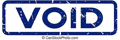 Grunge black void square rubber seal stamp on white background