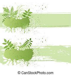 grunge, blad, natuur