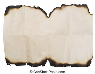grunge, blanc, papier, brûlé