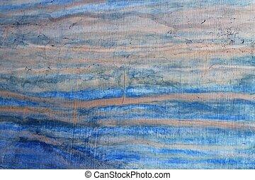 grunge, bleu, vieilli, mur, texture, fond
