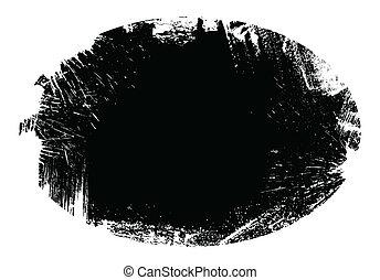 Grunge Blob Shape Vector Frame Design Illustration