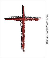 grunge, blod, röda korset