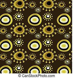 grunge, blomstret mønster