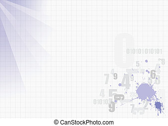 Grunge blot template with place fo