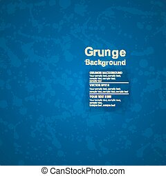 Grunge blue background with ink splatter. Vector texture