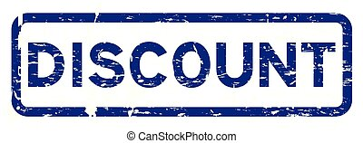 Grunge blue discount square rubber seal stamp on white background