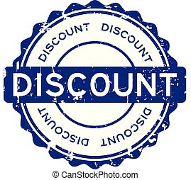 Grunge blue discount word round rubber seal stamp on white background