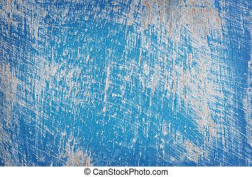grunge, blue., geverfde, textuur, hout paneel