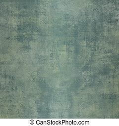 Grunge blue green steel background with stains