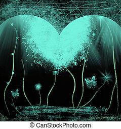 Grunge blue heart