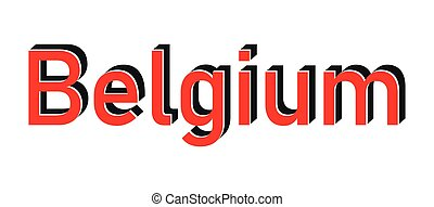 Grunge blue made in Belgium word square rubber seal stamp on white background