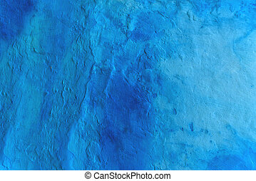 Grunge blue painted wall texture