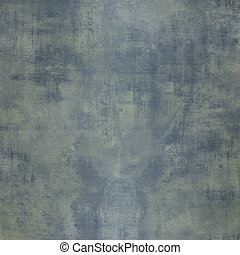 Grunge blue steel background with stains - Square grunge...
