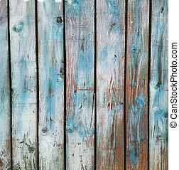 Grunge blue wooden background