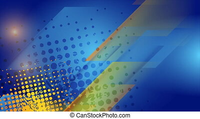 Grunge blue yellow geometric abstract motion background