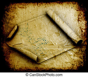 Grunge blueprints - Image of blueprints grunge style
