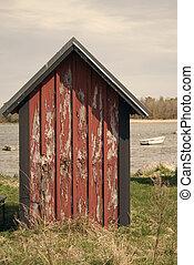 Grunge boathouse