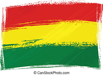 Grunge Bolivia flag