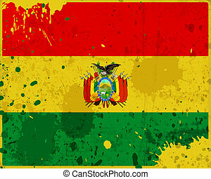 Grunge Bolivia flag with stains