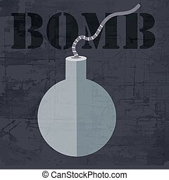 grunge bomb icon background concept. Vector illustration...
