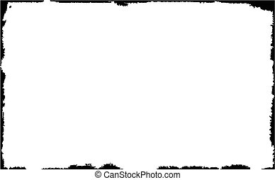A black grunge border over a white background