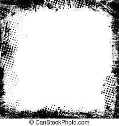 Grunge border - Detailed grunge border
