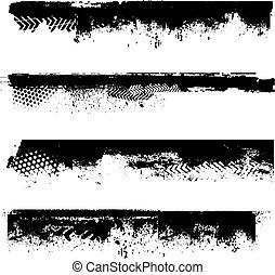 Grunge border details - Various grunge elements - ideal for...