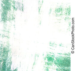Grunge border, green painted background