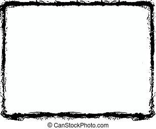 Grunge black border over white