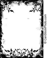 Grunge border, image