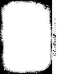 grunge border two tone - Black and gray grunge effect border...