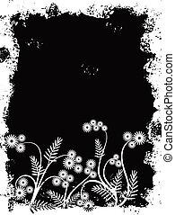 Grunge border, vector illustration