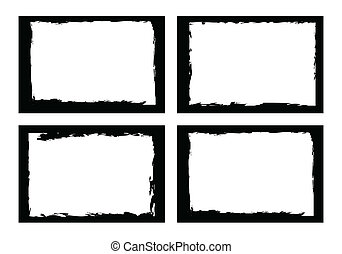 grunge borders, frames, for image or photo. vector format.