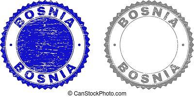 Grunge BOSNIA Textured Stamp Seals
