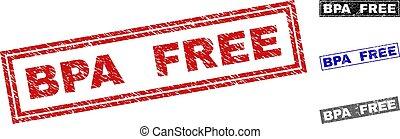 Grunge BPA FREE Textured Rectangle Stamp Seals