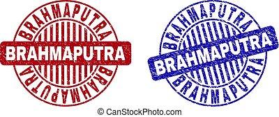 Grunge BRAHMAPUTRA Scratched Round Stamp Seals - Grunge...